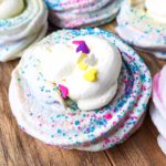 cotton candy meringue cookies