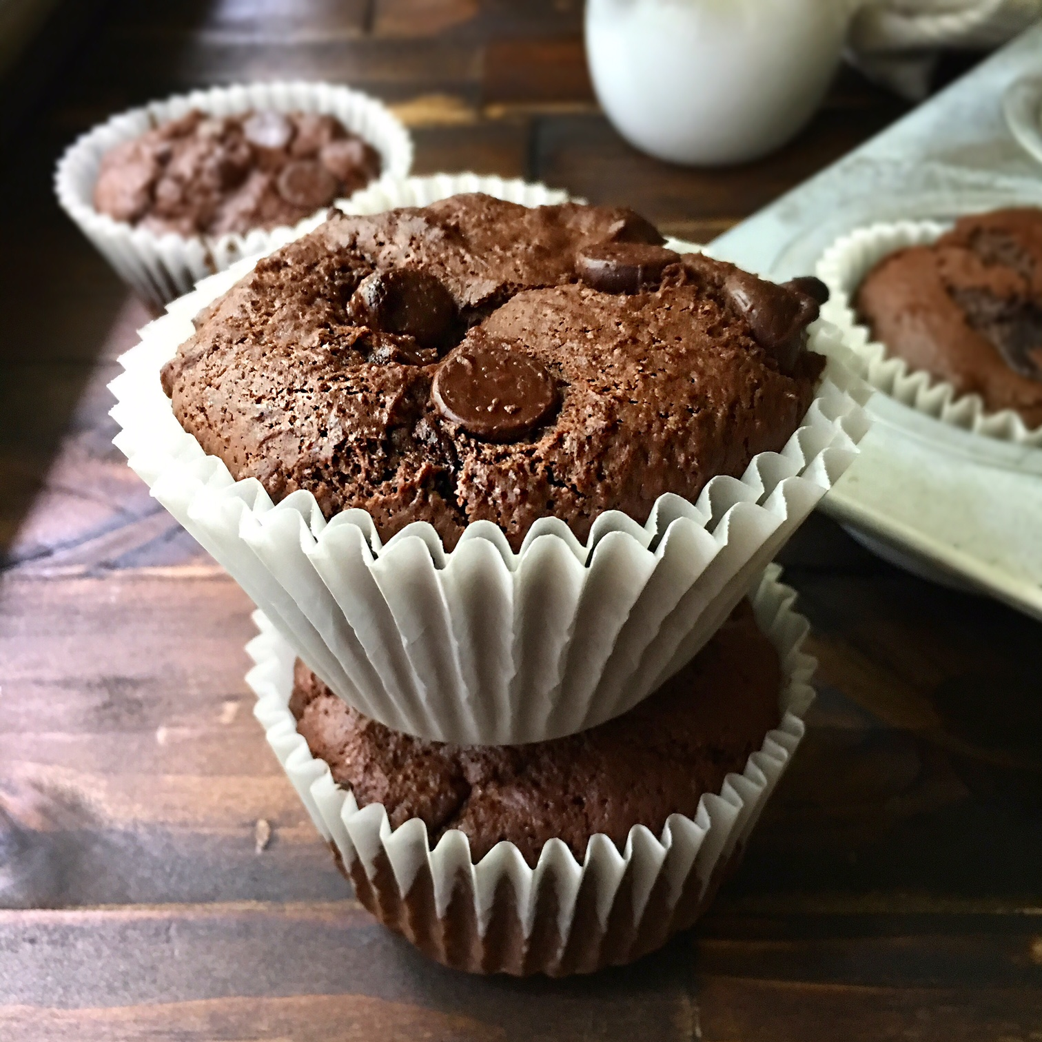 Rodelle Double Chocolate Muffins