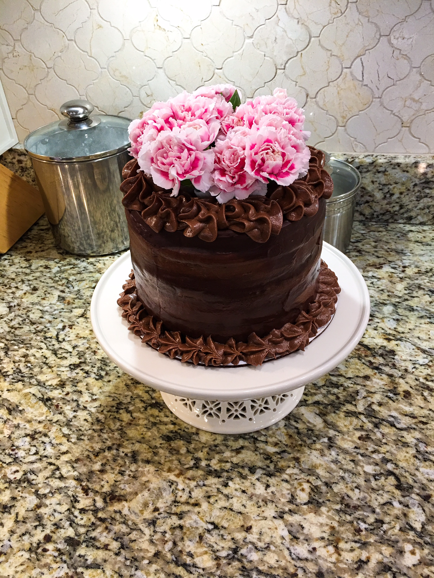 Chocolate Ganache Cake Kellie Rice Cakes